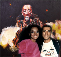 Diana Ross Painting. By Tarantola